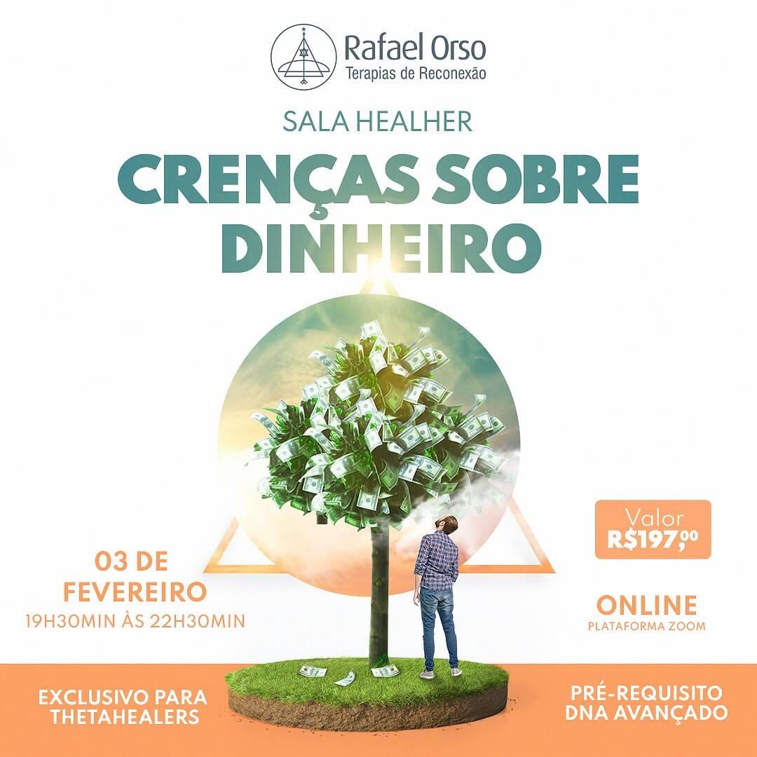 Crenças sobre dinheiro - Evento online com Rafael Orso
